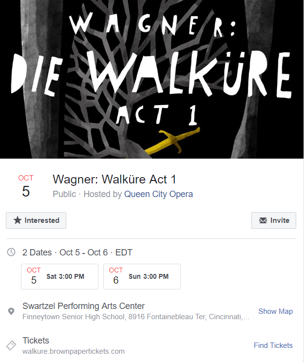 Die Walküre Facebook Invitation https://www.facebook.com/events/608737509616652/?event_time_id=608737512949985%3Fti